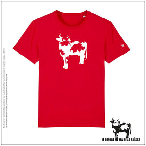 Tee shirt Homme rouge vache JDMB Suisse