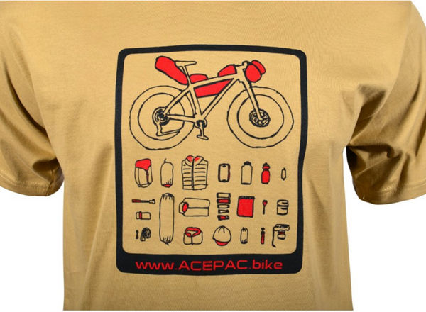 "AcePac BikePacking ""Gear List"" T-Shirt - TerraVenture MTB Ltd"