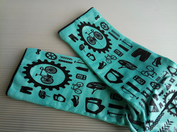 Doppio Slavo - Bike Parts Celeste Socks - TerraVenture MTB Ltd