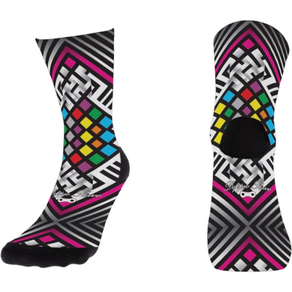 Doppio Slavo - Multi Colour Diamond Socks - TerraVenture MTB Ltd