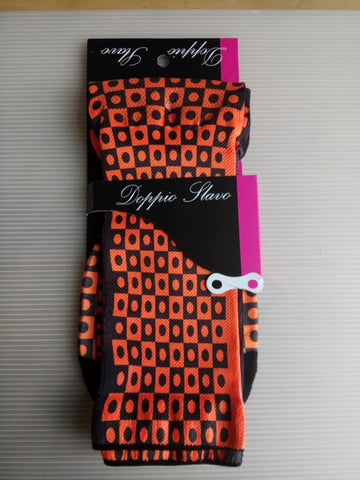 Doppio Slavo - Full Gas Orange Socks - TerraVenture MTB Ltd