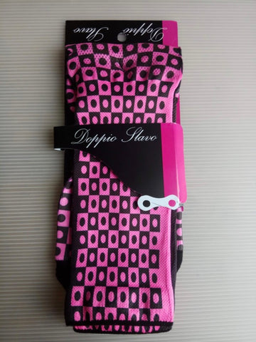 Doppio Slavo - Full Gas Pink Socks - TerraVenture MTB Ltd