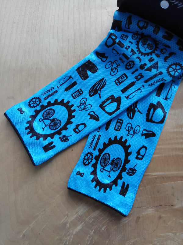 Doppio Slavo - Bike Parts Blue Socks - TerraVenture MTB Ltd