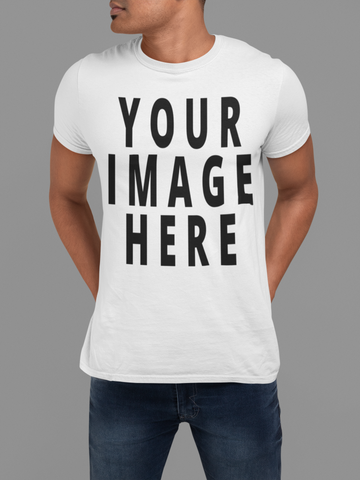 Custom Full Color T-Shirt With Your Image 12+ Colors to Choose From