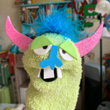 One-of-a-kind MONSTER Sock Puppet