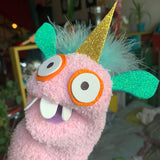 One-of-a-kind UNICORN Sock Puppet