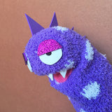 Sock Puppet Blorknee the Sparkle-saur