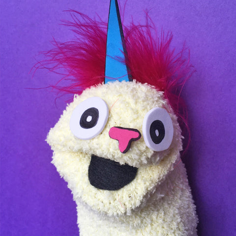 Sock Puppet Chiaroscuro The Unicorn