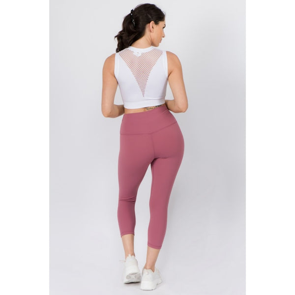 Dusty Rose Buttery Soft Capri Leggings