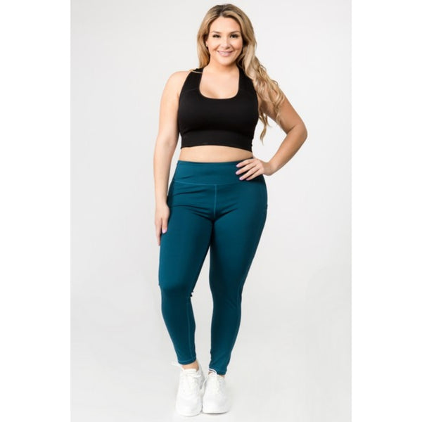 Teal Four Pocket Leggings