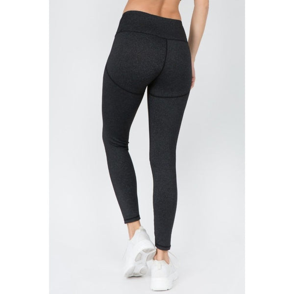 V-Waistband Heather Knit Leggings