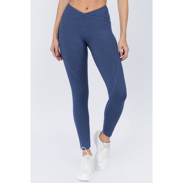 Denim V-Waistband Heather Leggings