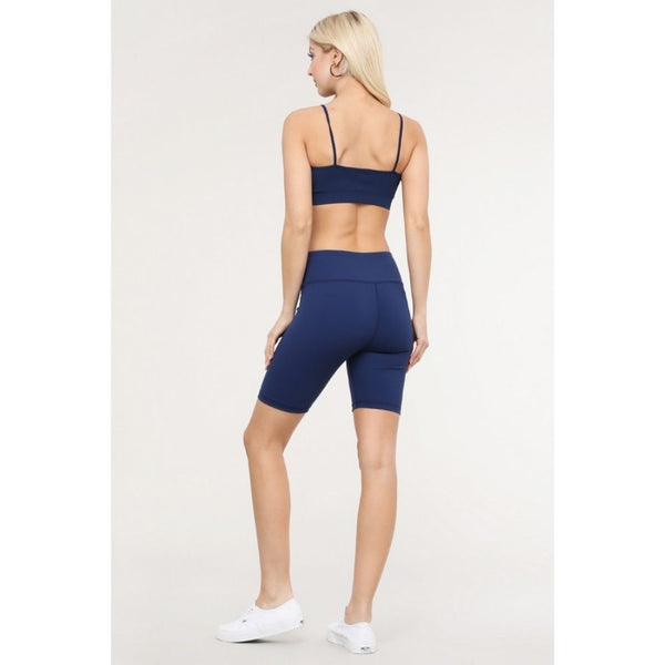 Navy Shift Active Biker Shorts