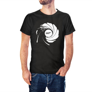 James Bond Inspired 007 Barrel T-Shirt - Postees