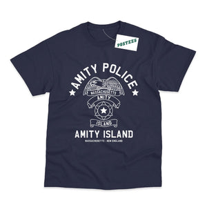 Jaws Inspired Amity Police Department T-Shirt - Postees