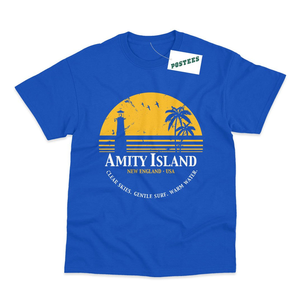 Jaws Inspired Amity Island T-Shirt - Postees