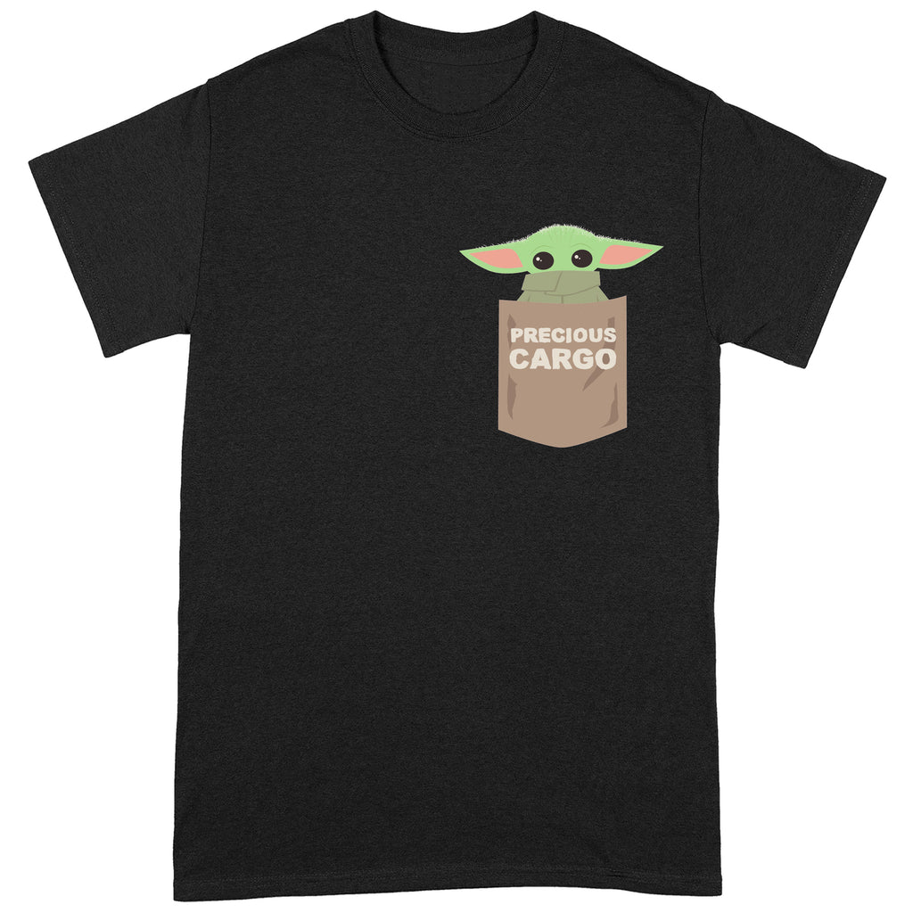 Official Star Wars The Mandalorian Baby Yoda Cargo Pocket T-Shirt
