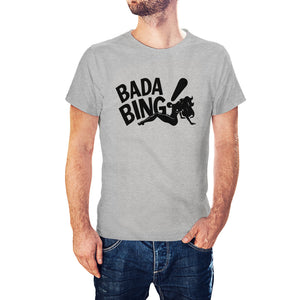 Sopranos Inspired Bada Bing Strip Club Heather Grey T-Shirt