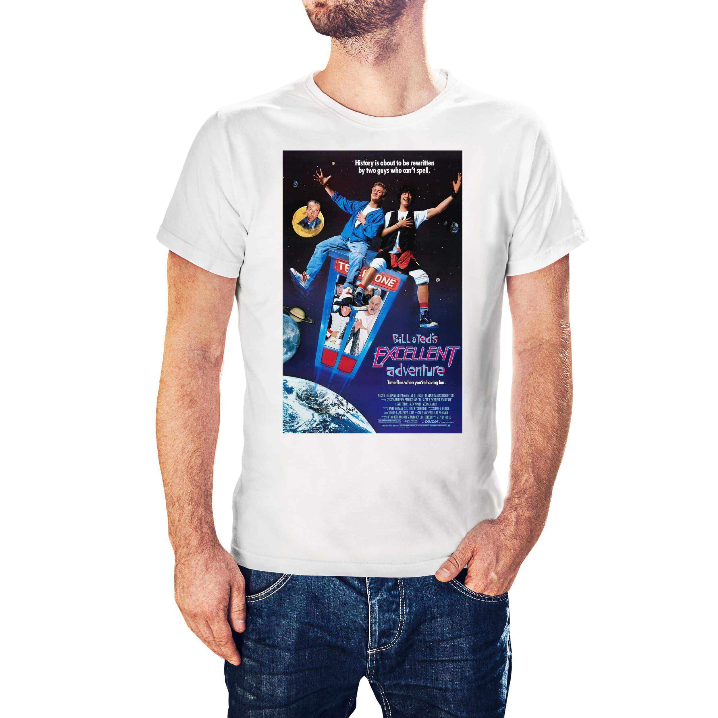 Bill & Ted's Excellent Adventure Movie Poster T-Shirt