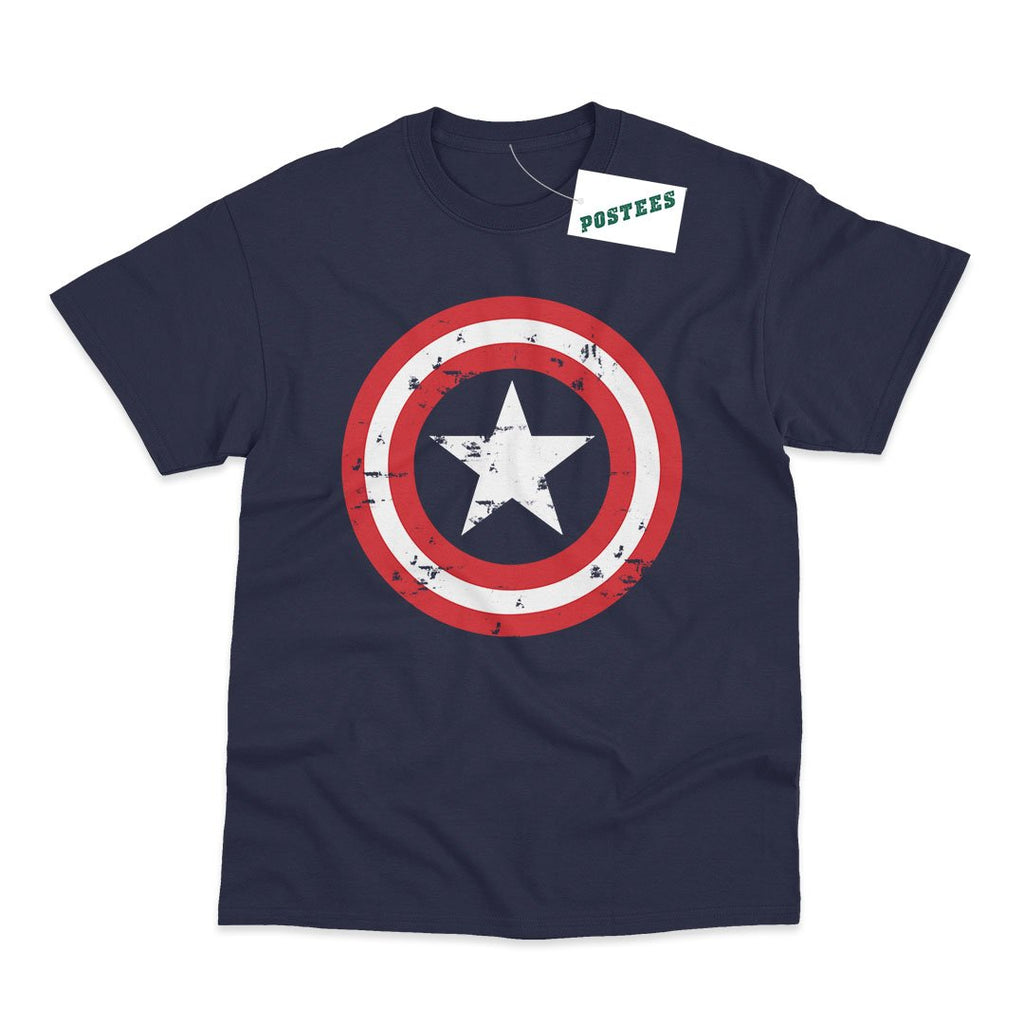 Captain America Shield Inspired T-Shirt - Postees