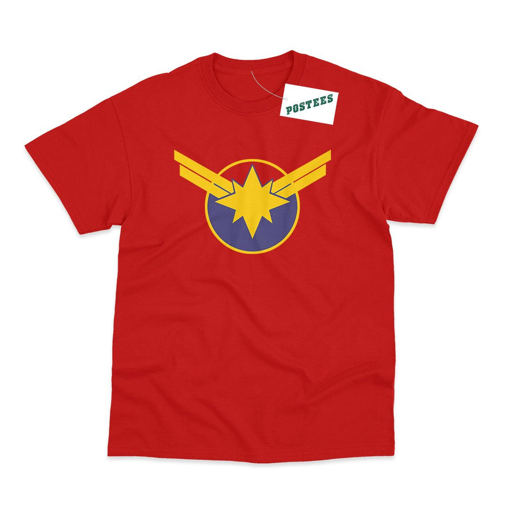 Captain Marvel Logo Inspired Kids T-Shirt - Postees