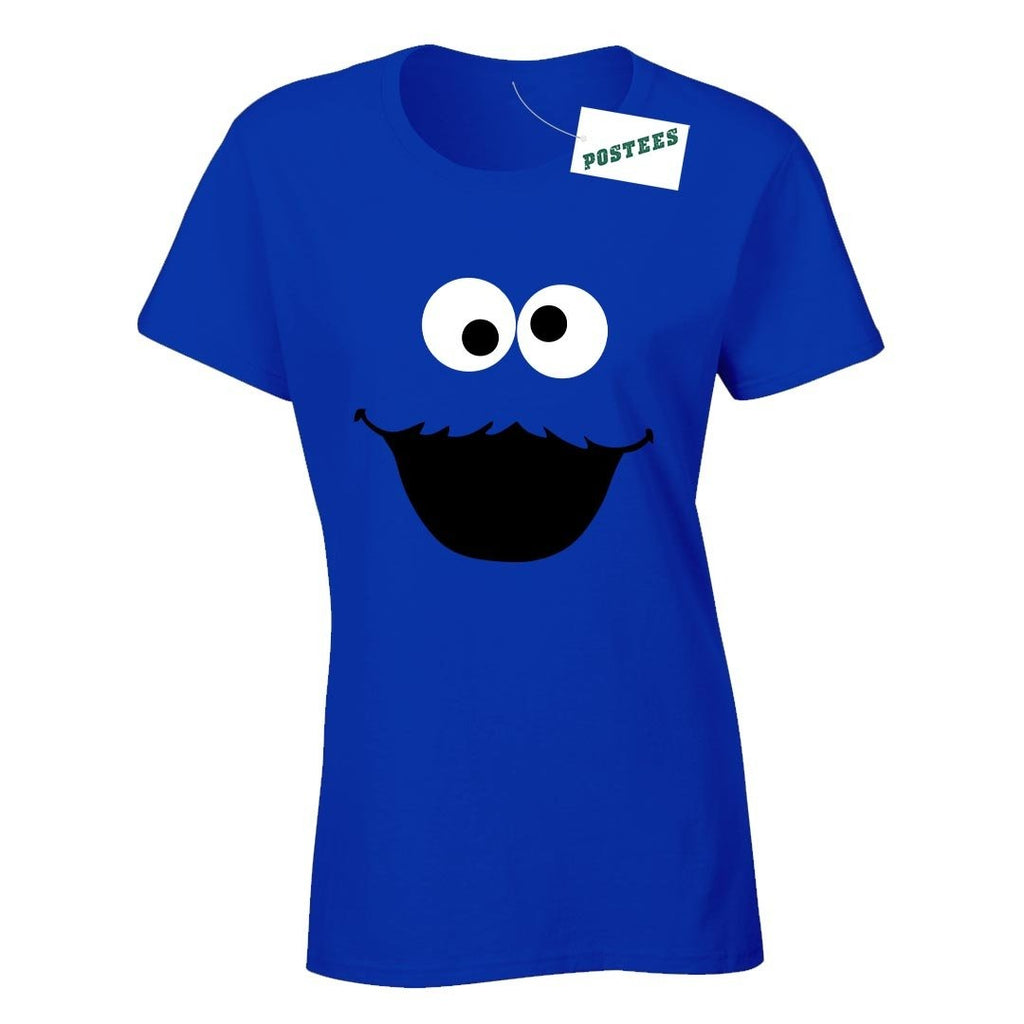 Sesame Street Inspired Cookie Monster Ladyfit T-Shirt - Postees