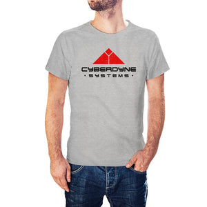 Terminator Inspired Cyberdyne Systems Heather Grey T-Shirt - PosteesUK