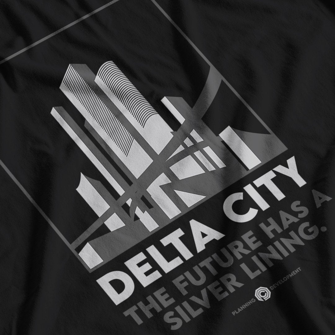 Robocop Inspired Delta City T-Shirt - Postees