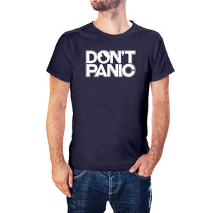 The Hitchhiker's Guide To The Galaxy Inspired Don't Panic T-Shirt - Postees