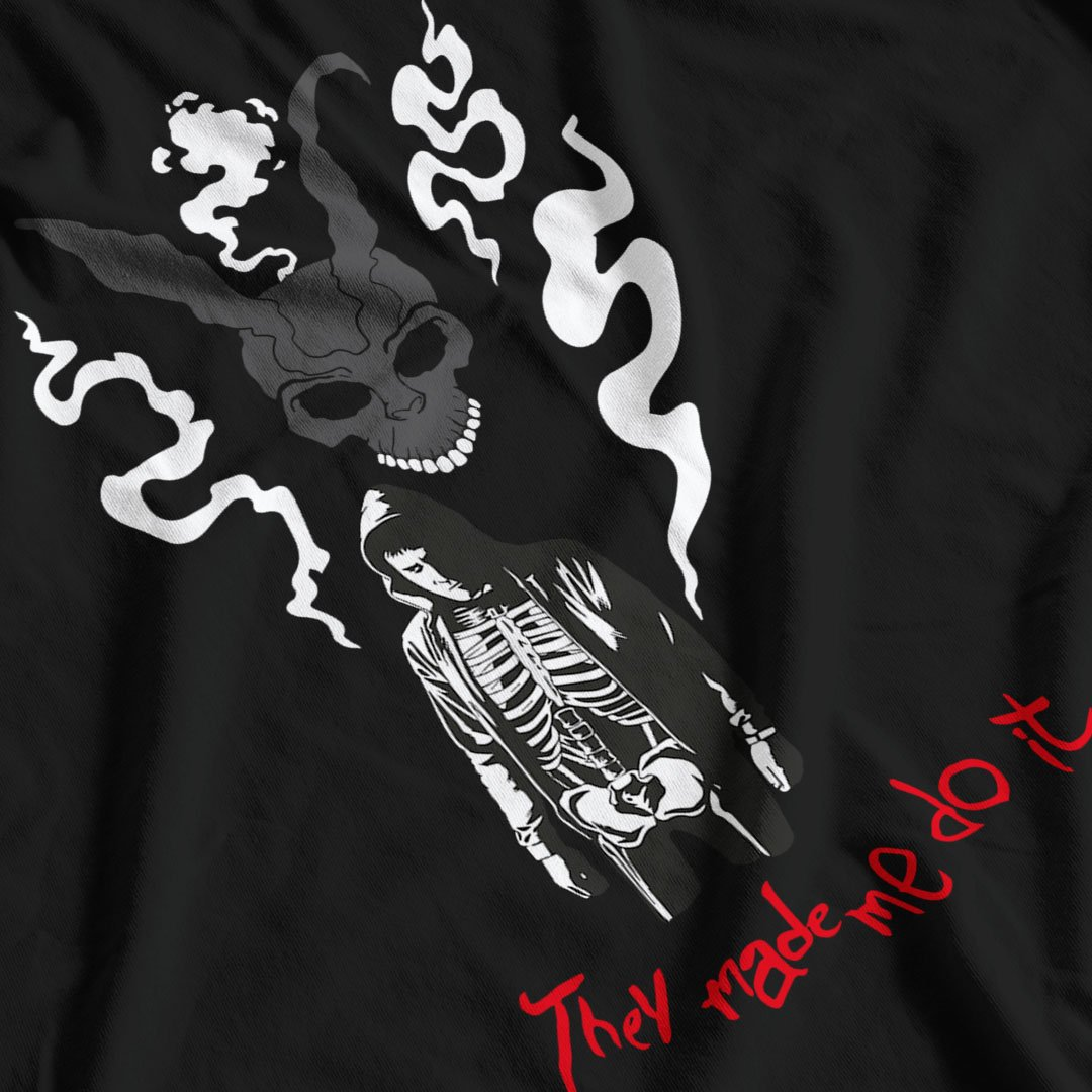 Donnie Darko Inspired They Made Me Do It T-Shirt - Postees