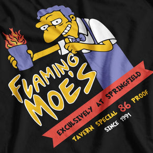 The Simpsons Inspired Flaming Moe's Tavern T-Shirt - Postees