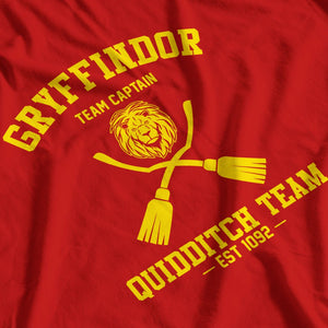 Gryffindor Quidditch Team Captain Inspired by Harry Potter T-Shirt