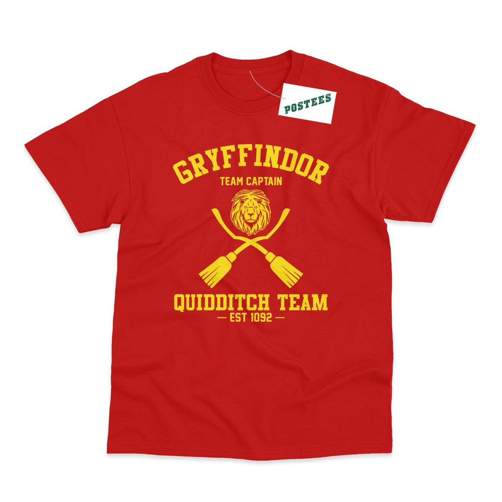 Harry Potter inspired Gryffindor Quidditch Team T Shirt - Postees