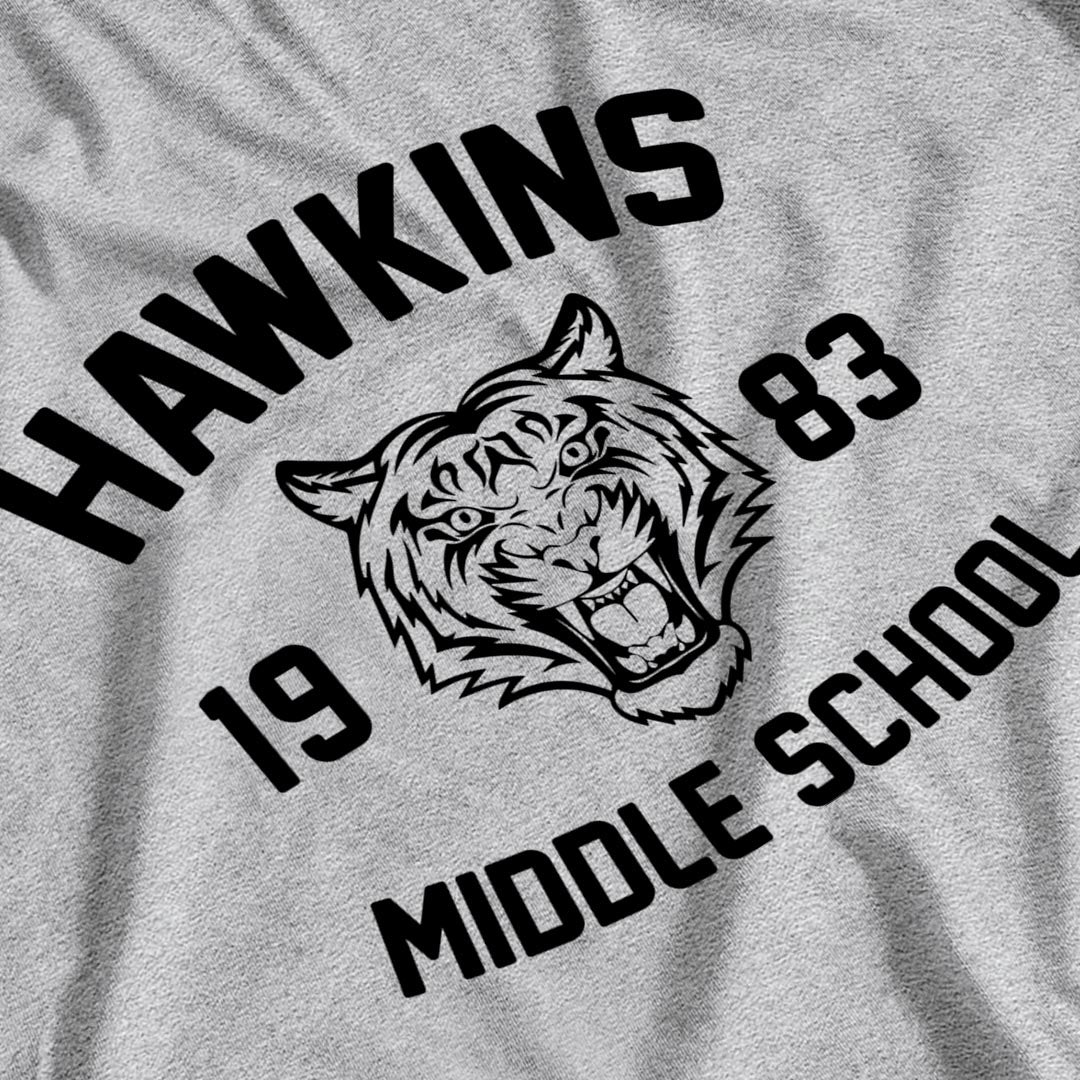 Stranger Things Inspired Hawkins Middle School Kid's T-Shirt - Postees