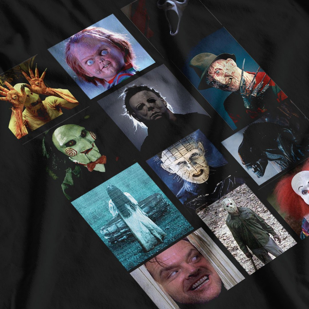 Scary Bunch Horror Villain Inspired T-Shirt - Postees