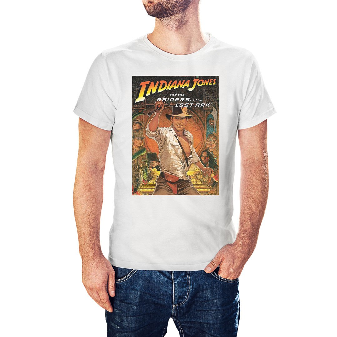 Indiana Jones Raiders Of Lost Ark Movie Poster Inspired T-Shirt - Postees