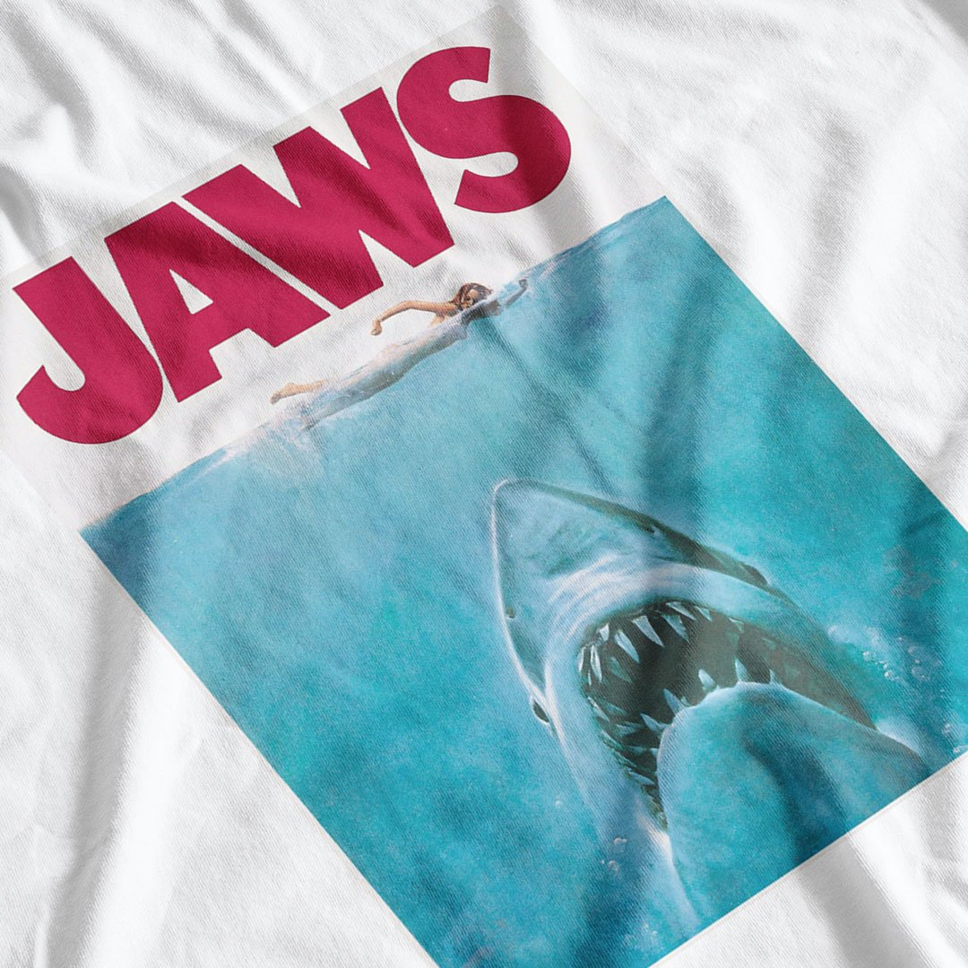 Jaws Movie Poster Inspired T-Shirt - Postees
