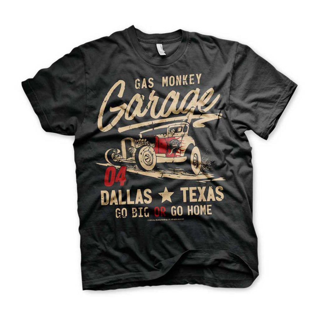 Official Gas Monkey Garage Go Big Or Go Home T-Shirt