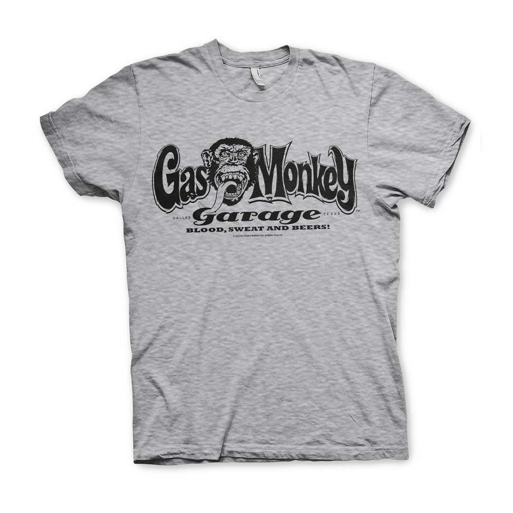 Official Gas Monkey Garage Logo Grey T-Shirt