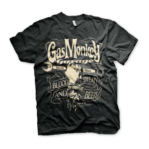 Official Gas Monkey Garage Wrench Label T-Shirt