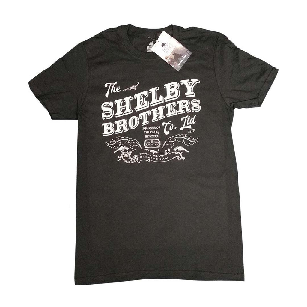 Official Peaky Blinders The Shelby Brothers Black T-Shirt