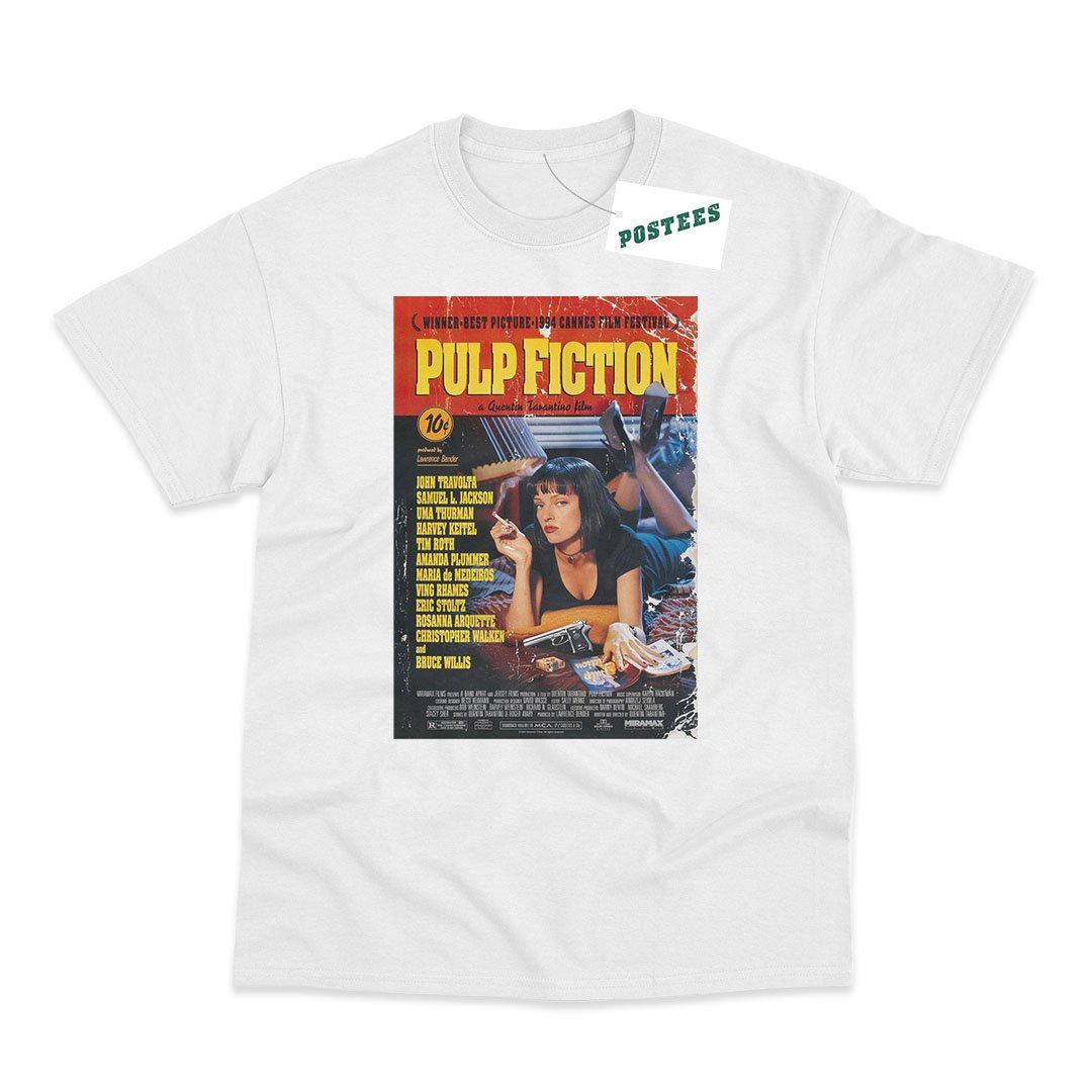 Pulp Fiction Movie Poster Inspired T-Shirt - PosteesUK