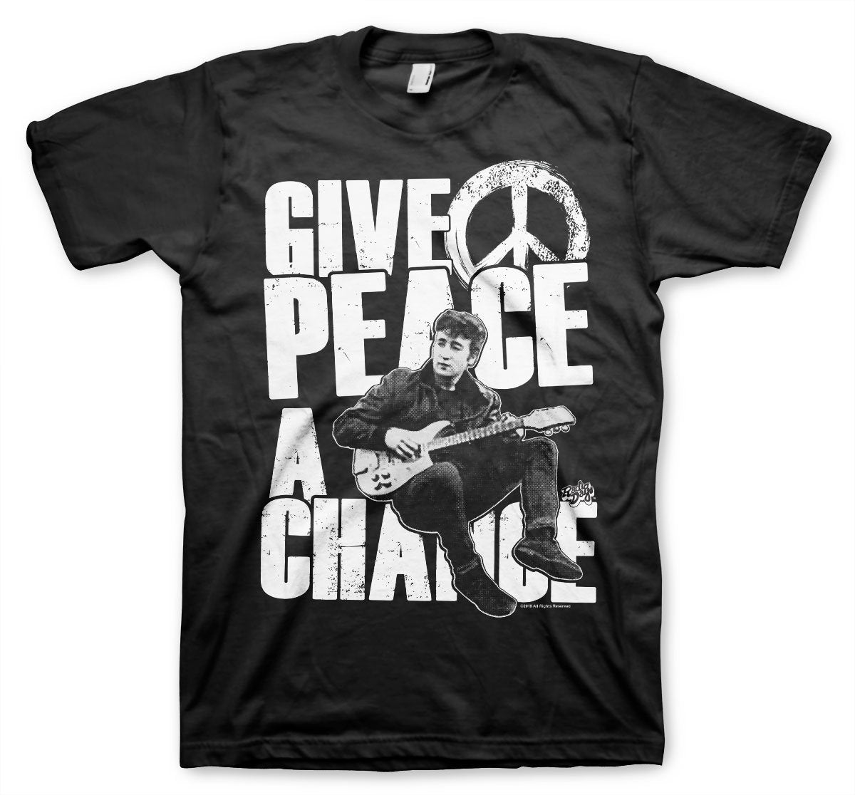 Official John Lennon Give Peace A Chance T-Shirt - PosteesUK