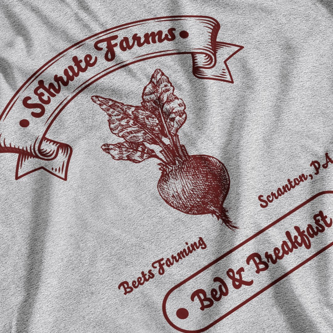 The Office (US) Inspired Schrute Farms B&B T-Shirt - PosteesUK