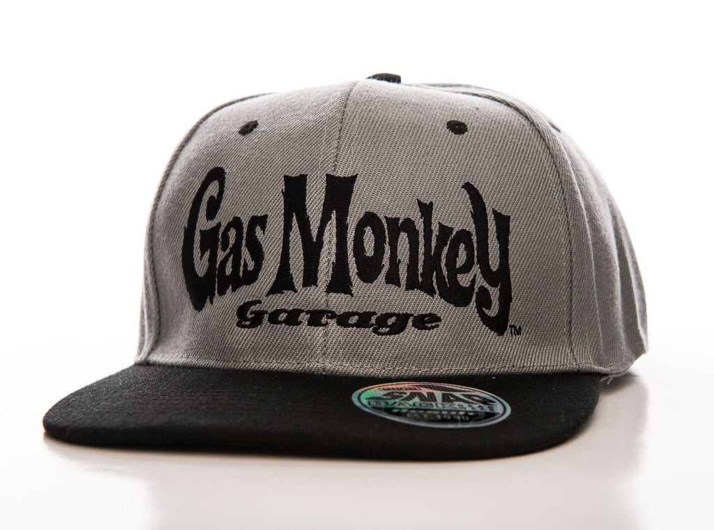 Official Gas Monkey Garage Grey Snapback Cap