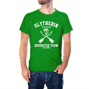 Harry Potter Inspired Slytherin Quidditch Team Captain T-Shirt - Postees