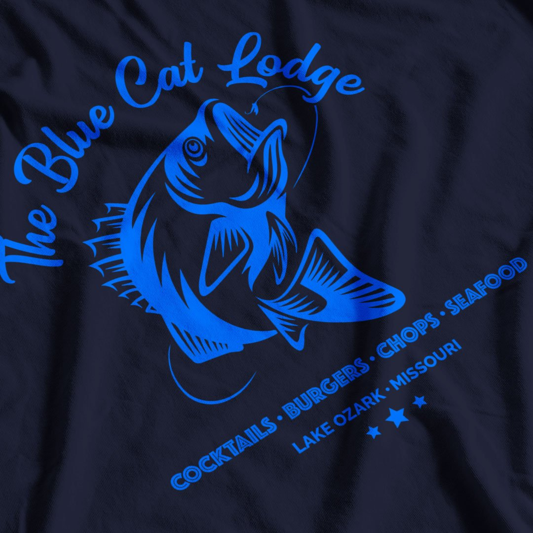 Ozark Inspired Blue Cat Lodge T-Shirt - Postees