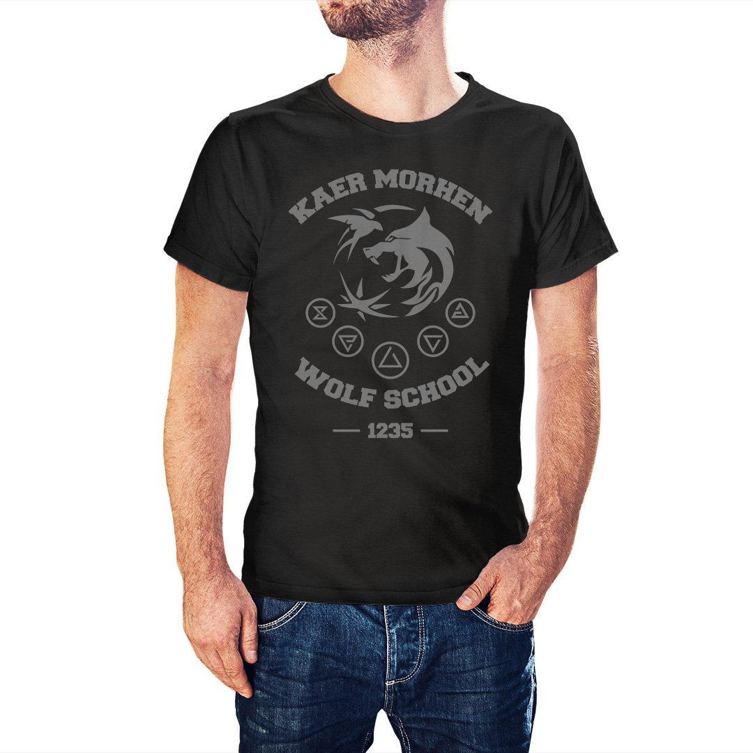The Witcher Inspired Kaer Morhen Wolf School T-Shirt - Postees