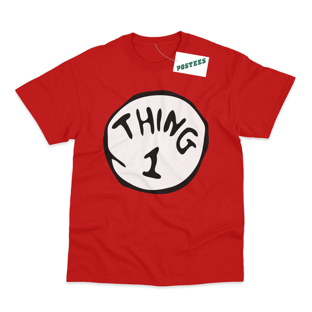 Thing 1 Dr Seuss The Cat In The Hat Adult Book Day T-Shirt