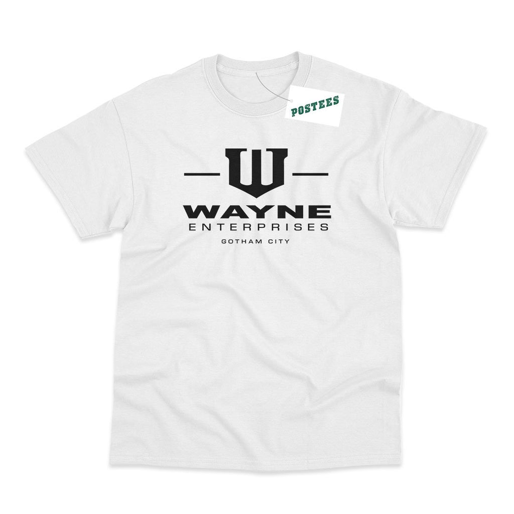 Batman Inspired Wayne Enterprises White T-Shirt - Postees